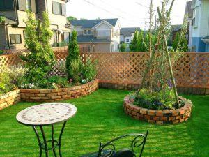 人工芝と造園工事 (1)